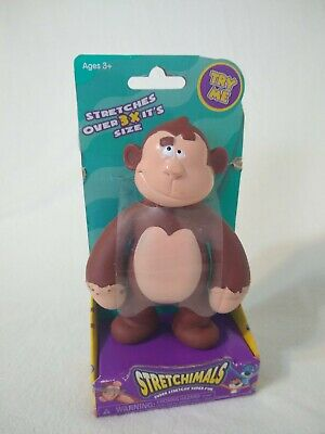 "NEW Stretchimals 5.5"" Super Stretch Yanky Monkey 3x Stretchability Fidget Toy"