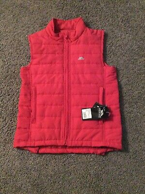 Trespass Pink Girls Bodywarmer/Gilet Age 11-12 Yrs New With Tags