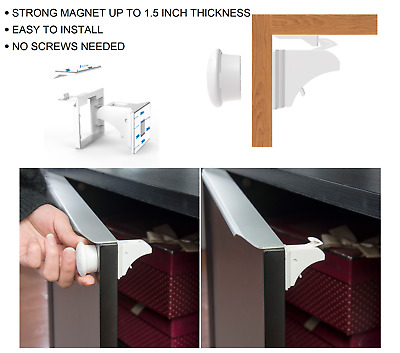 Quality Strong Invisible Magnetic Baby Child Pet Cupboard Drawer Safety Locks