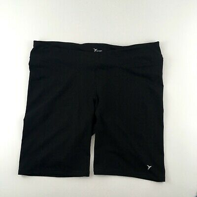 OLD NAVY Active 4X Plus Go-Dry BLACK Yoga Workout Compression Shorts w/ Pocket