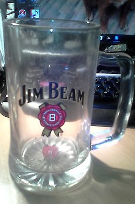 jim beam  logo mug glass approx 500ml
