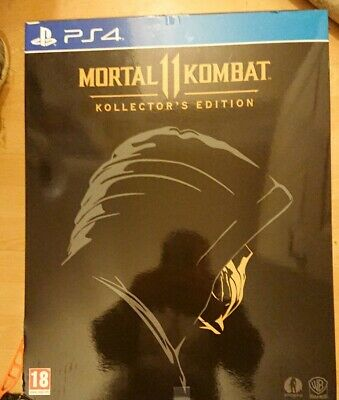 Mortal Kombat 11 (2019, PS4) Kollector's Edition inc; 1:1 Scale Scorpion Mask
