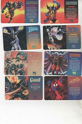 1995 Marvel X-Men 8 Card Plastic Card Set Very Rare Wolverine Spiderman Storm