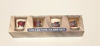 4 Different Houston Rockets Shotglasses Shot Glass Set Vintage