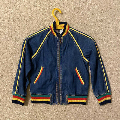 Vintage 1970s Childs Denim Jacket Size 7 EUC