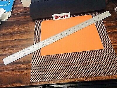 STARRETT No.C604R-24 24 Inch Long Spring-Tempered Steel Rule With 4R Graduations