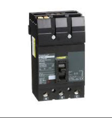 SQUARE D POWER PACT 100A 480V 3P CIRCUIT BREAKER FJA34100 100 Amp 3 Pole Phase