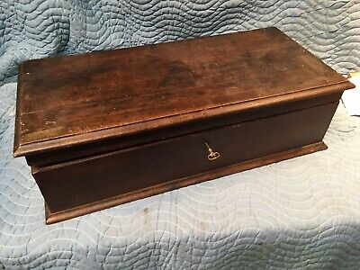 """Antique Wooden Classic Tool Box - 29""""x13"""" - 1800's, Great Condition!"""