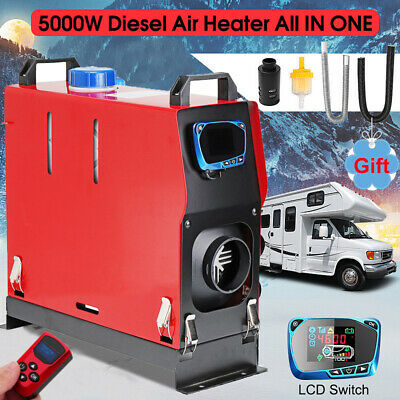 🔥1-5KW 12V Diesel Air Heater All In 1 Thermostat Remote For Caravan Trailer