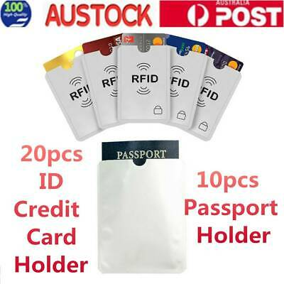 10x Passport & 20x RFID Blocking ID Credit Card Protector Sleeve Shield Holder