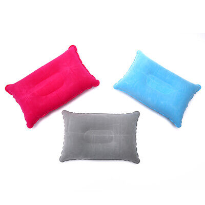 Portable Outdoor Air Inflatable Pillow Double Sided Flocking Travel Plane Hot rs