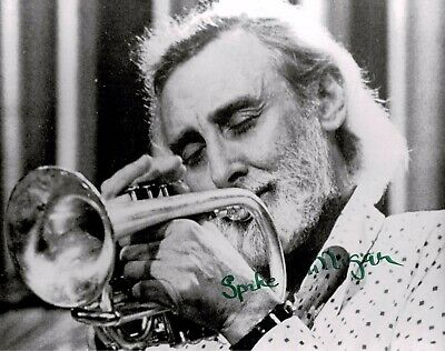 Spike Milligan Signed 10 X 8 Photo playing the Trumpet