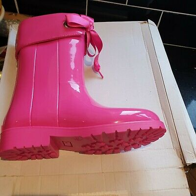 Girls Pink Wellie Boots Size 33