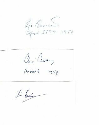 Roger Bannister Chris Brasher & Chris Chataway signed & Time quote rare