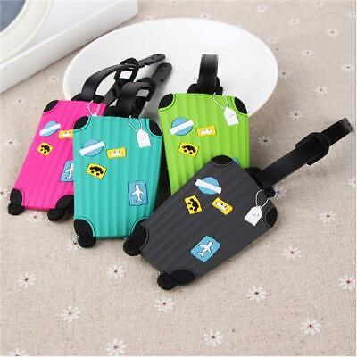 Silicone Luggage Tags Suitcase Baggage Travel Name Address ID Tag Label HD3