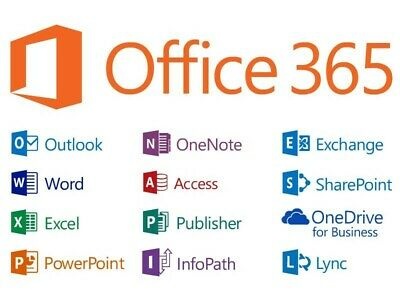 Microsoft Office 365 2019 pro plus 5 device account 5tb cloud