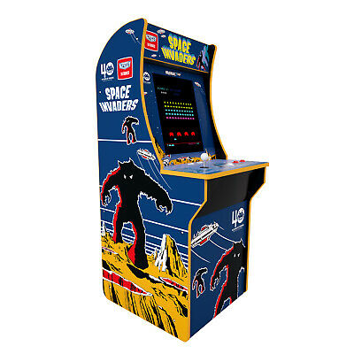 Arcade Game Machine Arcade1Up Space Invaders 4 ft Vintage Video Room Dorm 17 LCD