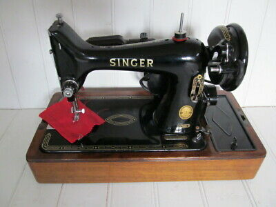 Vintage classic singer sewing sowing machine 99k electric motorised PAT tested