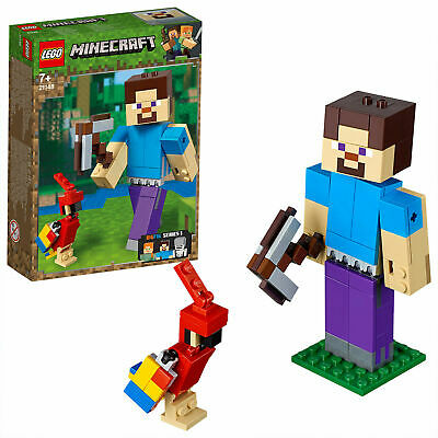 LEGO 21148 Minecraft Steve Bigfig with Parrot New & Sealed FREE POST