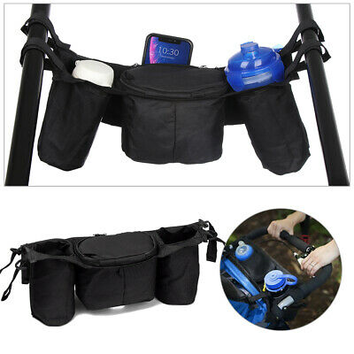 Carrying Case Holder Trolley Accessories Pushchair Stroller Organizer Cup Bag