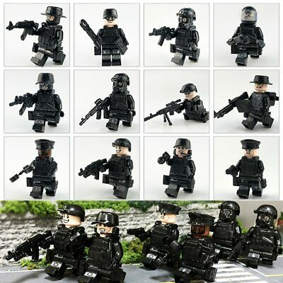 12x SWAT POLICE Military Mini Figures Weapon Army Soldier Fit Lego Toy Xmas Gift