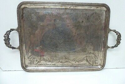 Eberle Silver Plated Engraved Serving Tray