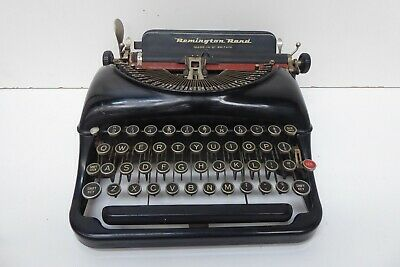 Remington Rand Black Portable Typewriter Antique Art Deco