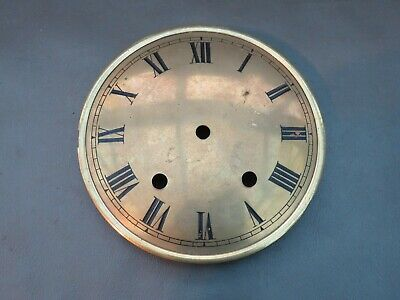 Vintage brass clock dial face for spares or parts