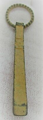 Ancient Roman Bronze Decorated Medical Or Hygienical Tweezers 200 - 300 Ad