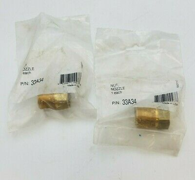 2 PC ESAB 33A34 Nozzle Nut 1400 Series Welding Equipment Replacement Part NOS