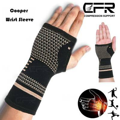 Copper Wrist Support Compression Gloves Arthritis Carpal Tunnel Hand Pain Relief