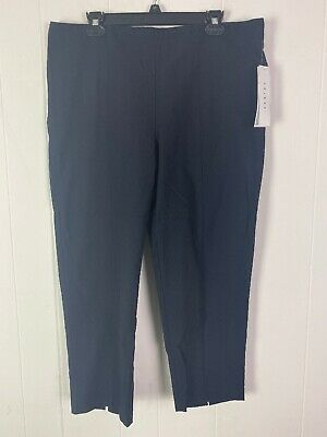 """NWT Tribal Women's Bengaline 25"""" Ink Blue Stretch Pull On Capris Size 16"""