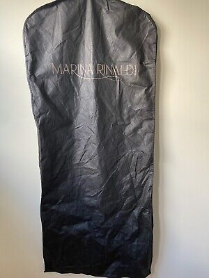 Marina Rinaldi Logo Zipper Garment Suit Dress Travel Storage Bag Carrier