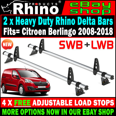 Citroen Berlingo Roof Rack Ladder Bars x2 Rhino 2008-2018 For SWB-L1 LWB-L2 Vans