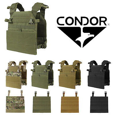 Condor Tactical MOLLE PALS Vanquish Compact Base Plate Carrier w/ Modular Panel