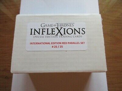 Game of Thrones Inflexions Special Edition International RED PARALLEL Set 25/25