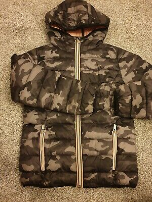next girls camoflage army puffer jacket aged 8 years rrp £30