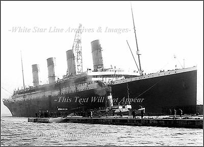 Photo: RMS Titanic Backing Out Of Thompson Dry Dock, Belfast, 1912