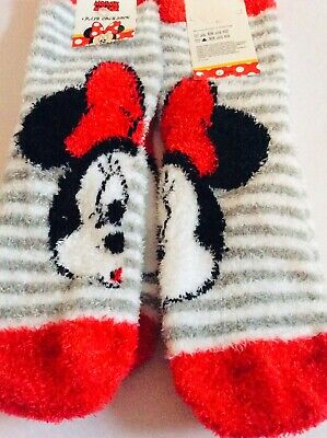 New 2 pairs of girls Minnie Mouse cosy socks, age 3-6 years