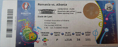 TICKET UEFA Euro 10.6.2016 France Frankreich Romania Rumänien Match 1
