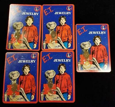 The Extra Terrestrial Vintage 1982 jewelry necklace Lot of 5 E.T