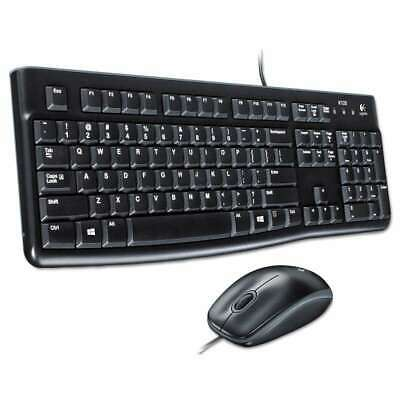 Logitech® MK120 Wired Desktop Set, Keyboard/Mouse, USB, Black 097855065476