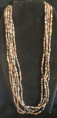 Authentic Ancient Egyptian Multi-Strand Necklace Comprised Of  Faience Beads