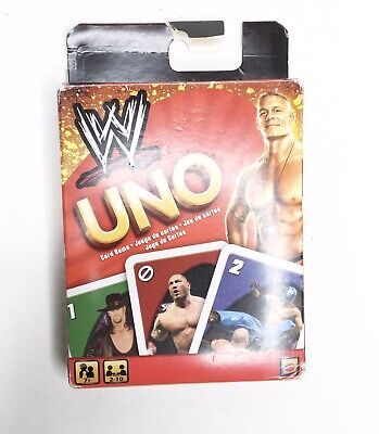 WWE Wrestling Edition UNO Card Game Complete 2010 Mattel RARE