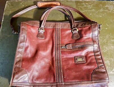 Vintage Brown Colombian Leather LANDTravel Duffle Bag Luggage