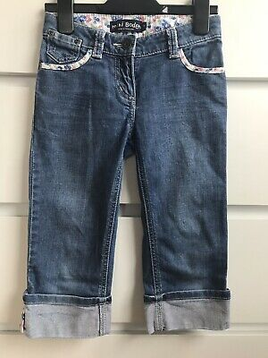 Girls Mini Boden cropped jeans age 7 years