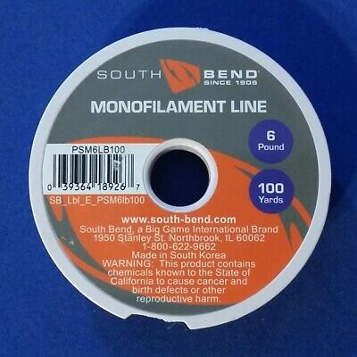 South Bend Monofilament Fishing Line 1 Pack 10 lbs Test 650 Yards