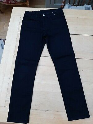 Boys black skinny fit jeans, adjustable waist, age 11 - 12 years