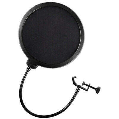 Dual Layer Microphone Wind Screen Pop Filter Mask Shied for Speaking Record