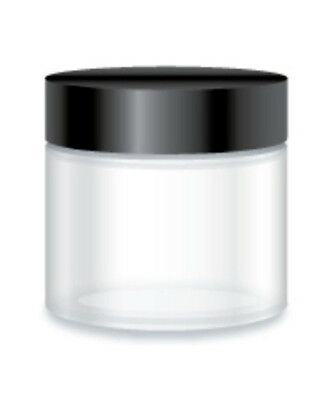 Clear Glass 65ml Round Jar with Black Lid